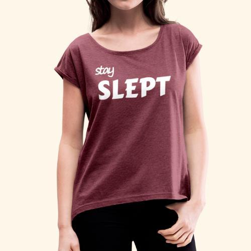 Reste couché - T-shirt à manches retroussées Femme