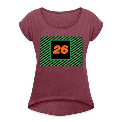 26Games Shirt - Vrouwen T-shirt met opgerolde mouwen