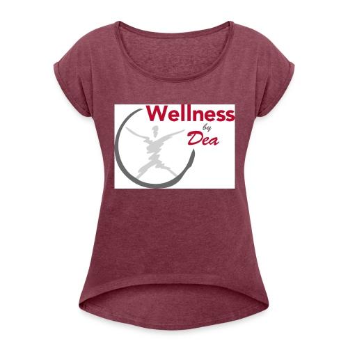 Wellness By Dea Vattenflaska - T-shirt med upprullade ärmar dam