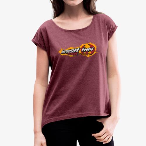 Logo EMPi fond jaune - T-shirt à manches retroussées Femme