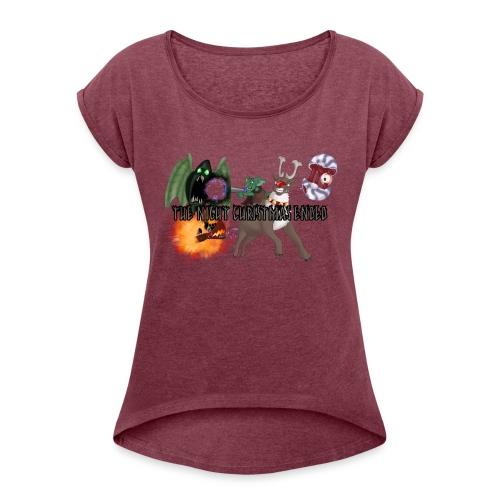 The Night jul Ended - Dame T-shirt med rulleærmer