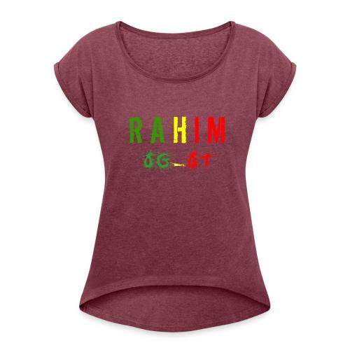 t-shirt design Rahim - T-shirt à manches retroussées Femme