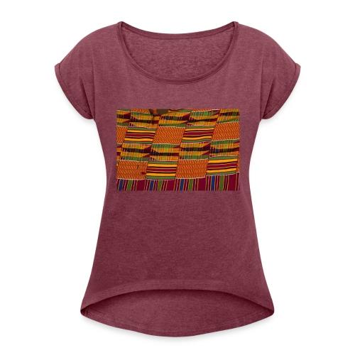 Kumasi Damer - T-shirt med upprullade ärmar dam