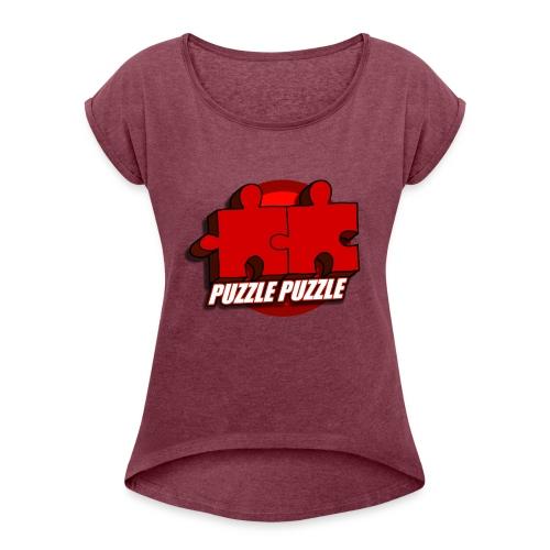 PuzzlePuzzle - Maglietta da donna con risvolti