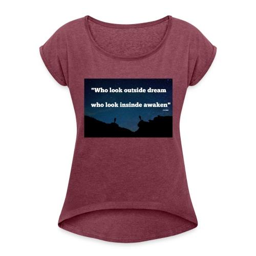 Look inside - T-shirt à manches retroussées Femme