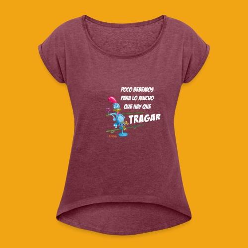 CAMISETA GALLO - Camiseta con manga enrollada mujer