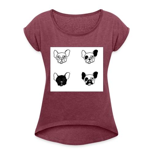 BULLDOGZ - T-shirt med upprullade ärmar dam