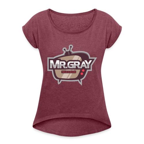 MrGrayTV - Dame T-shirt med rulleærmer