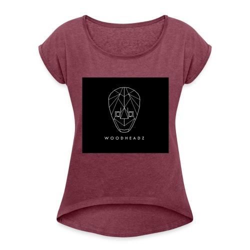 Woodheadz - Holzköpfe - Frauen T-Shirt mit gerollten Ärmeln