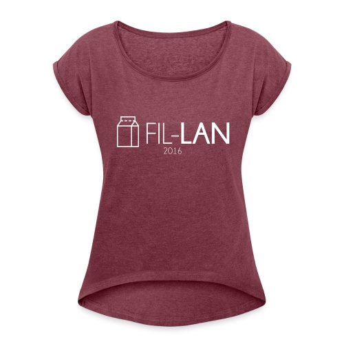 Fil-LAN - T-shirt med upprullade ärmar dam