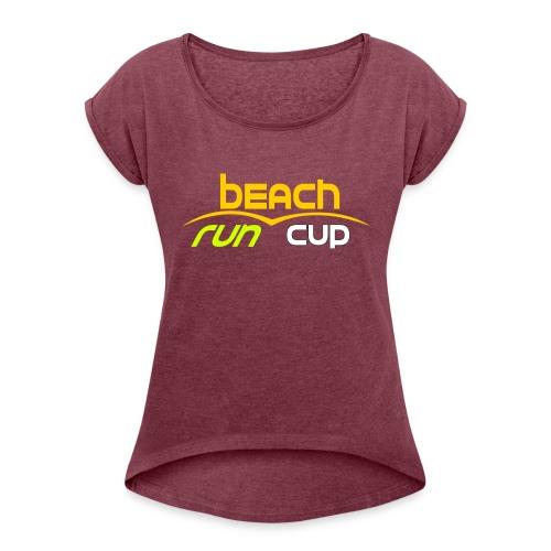 Beach_Run_Cup_d--tour-- - T-shirt à manches retroussées Femme