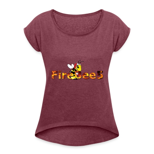 FireBee5 - Comic-Style - Frauen T-Shirt mit gerollten Ärmeln