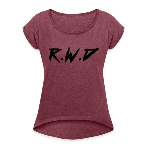 R.W.D Black Label - Women's T-Shirt with rolled up sleeves