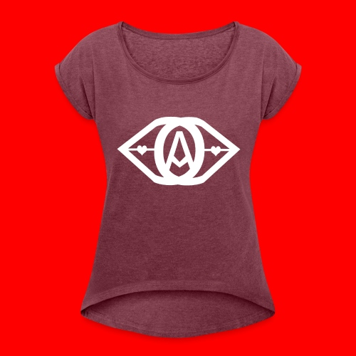 Catos - Frauen T-Shirt mit gerollten Ärmeln