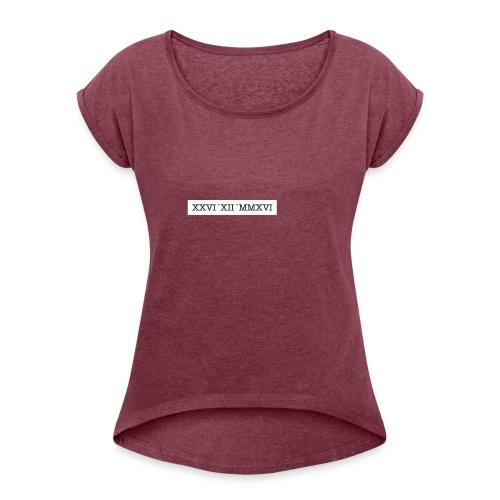 Bildschirmfoto_2016-12-26_um_01-26-00 - Frauen T-Shirt mit gerollten Ärmeln