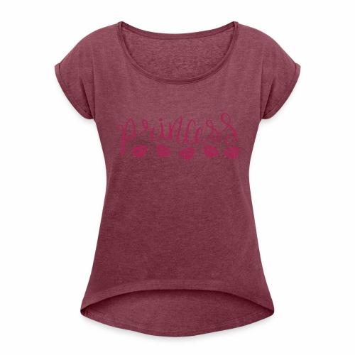 Prinzessin Diamanten - Frauen T-Shirt mit gerollten Ärmeln