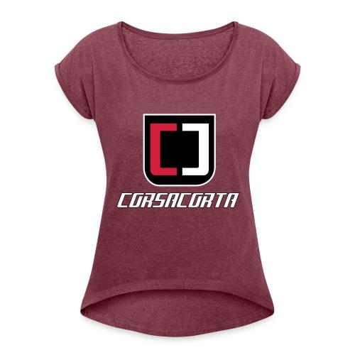 Premium - Corsacorta - Maglietta da donna con risvolti