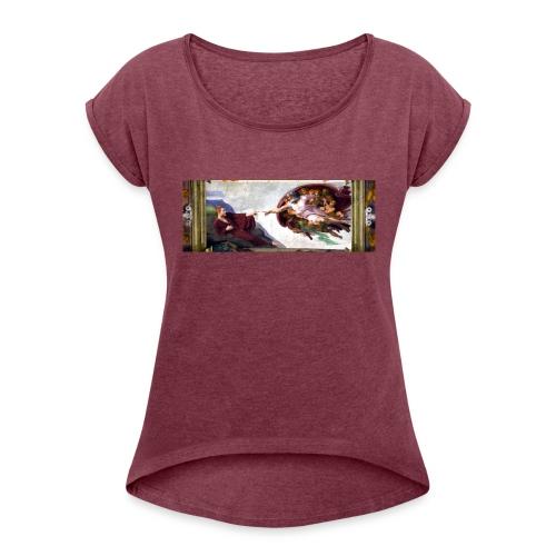 Björns skapelse - T-shirt med upprullade ärmar dam