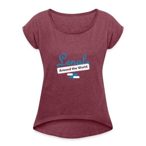 LOGO front - Camiseta con manga enrollada mujer