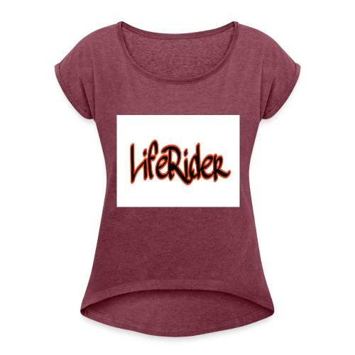 LifeRider - Frauen T-Shirt mit gerollten Ärmeln