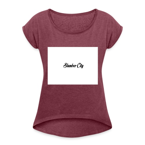 Slumber City - Women's T-Shirt with rolled up sleeves