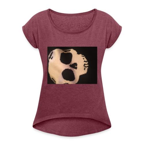 Skilette Marke - Frauen T-Shirt mit gerollten Ärmeln