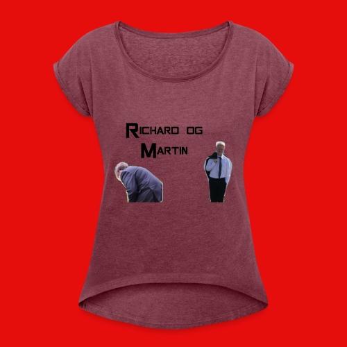 R&M - T-skjorte med rulleermer for kvinner