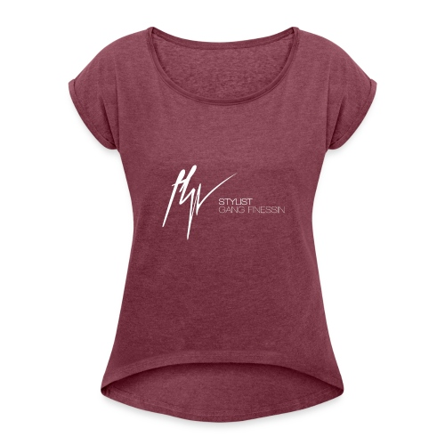 SGF - Vrouwen T-shirt met opgerolde mouwen