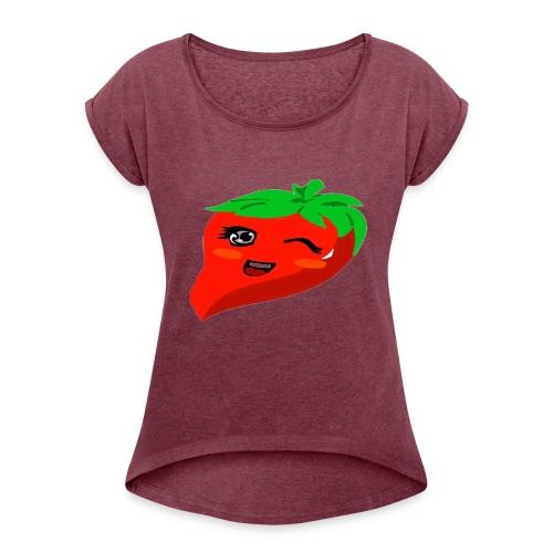 we Love Chilli - Frauen T-Shirt mit gerollten Ärmeln