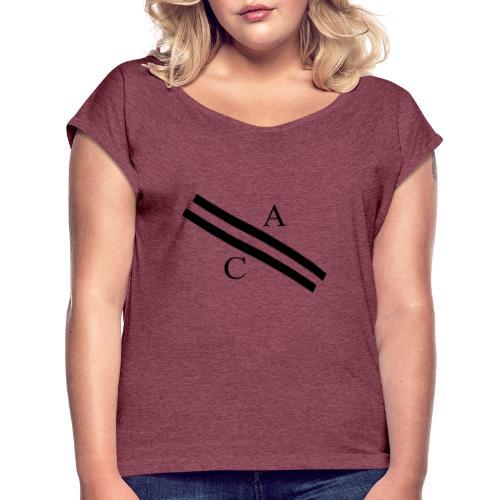 A\\C - T-shirt à manches retroussées Femme