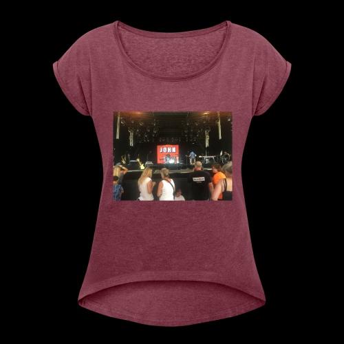 John Mogensen - Dame T-shirt med rulleærmer