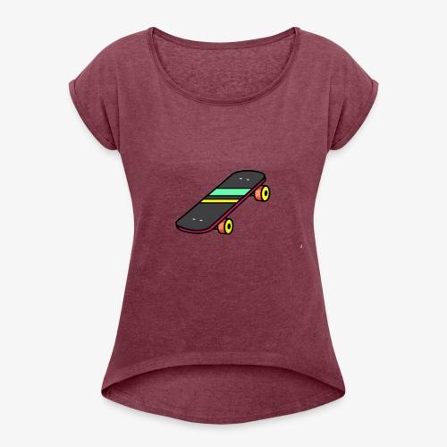 skate - T-shirt à manches retroussées Femme