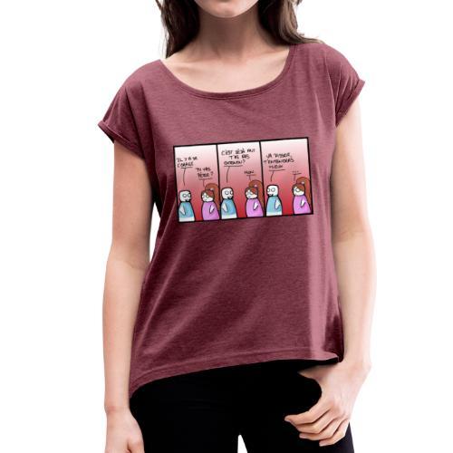 orage - T-shirt à manches retroussées Femme