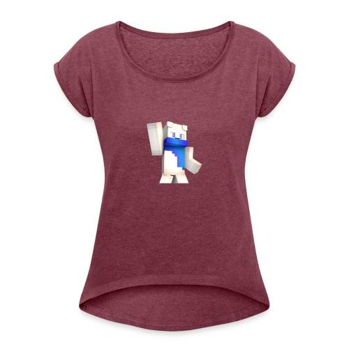 Tee-Shirt Noir - MrBobi - T-shirt à manches retroussées Femme