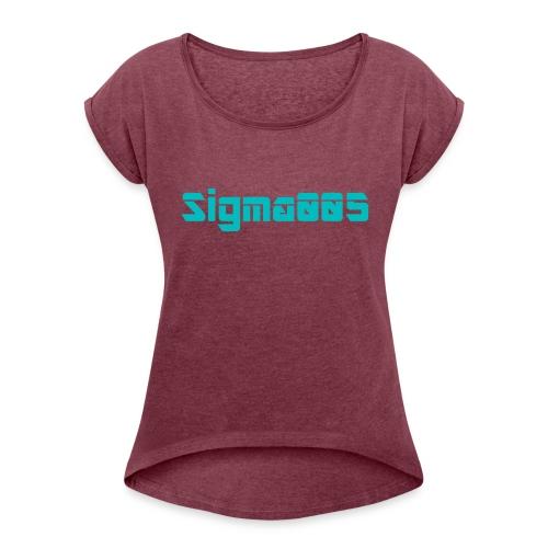 Sigma005 - T-shirt med upprullade ärmar dam
