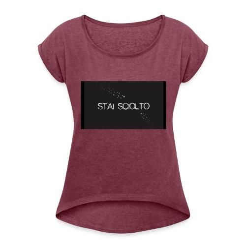 stc - Maglietta da donna con risvolti