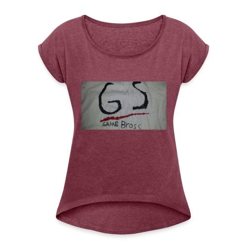 1478271114480-1025256133 - Frauen T-Shirt mit gerollten Ärmeln