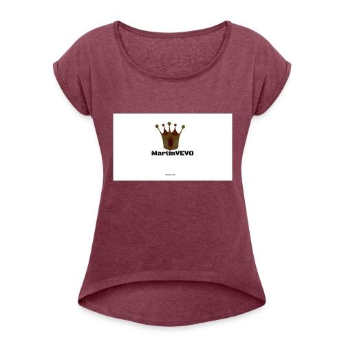 FloppyGang - Vrouwen T-shirt met opgerolde mouwen