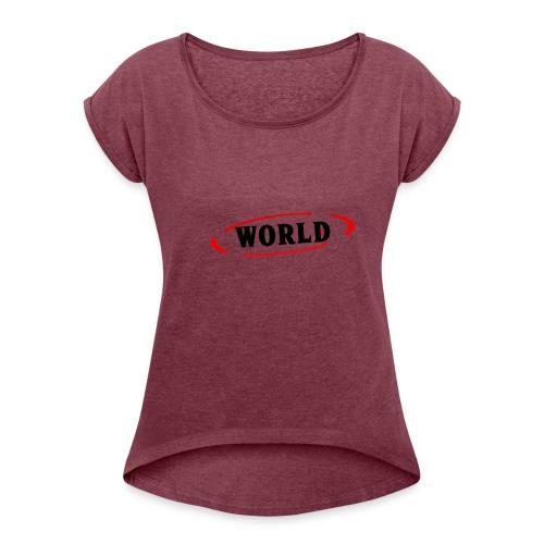 World Vibes - T-shirt à manches retroussées Femme