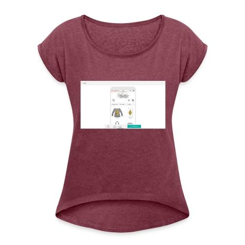 00-1_Preview_Mobile - Frauen T-Shirt mit gerollten Ärmeln