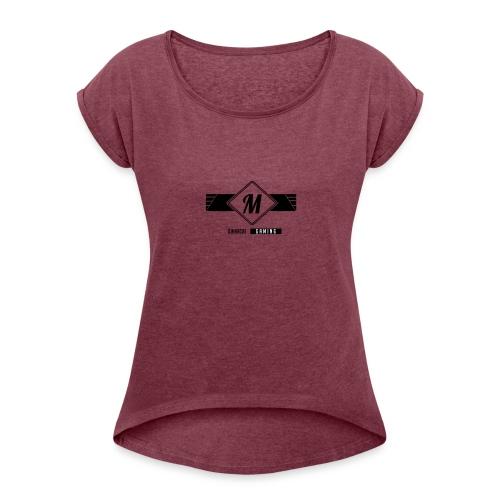 DJMarcus-Gaming - Frauen T-Shirt mit gerollten Ärmeln