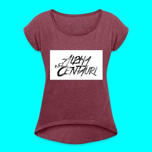 Alpha Centauri - Frauen T-Shirt mit gerollten Ärmeln