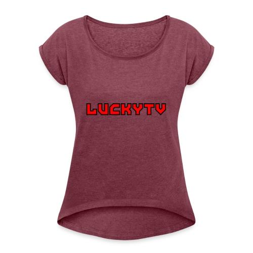 Lucky Tv TEXT 3 - T-shirt med upprullade ärmar dam