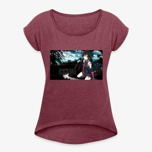 Akame ga Kill // Black Pullover Akame Picture - Frauen T-Shirt mit gerollten Ärmeln