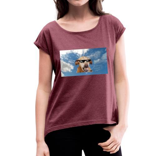 Dog thuglife - Dame T-shirt med rulleærmer