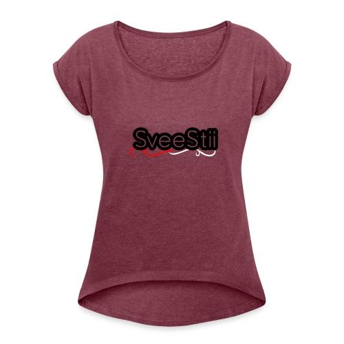 SVEESTIITSHIRTV2 - T-skjorte med rulleermer for kvinner