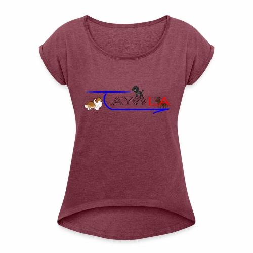 Tayola gris - T-shirt à manches retroussées Femme