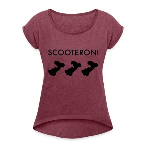 T-SHIRT SCOOTERONI BLACK - Maglietta da donna con risvolti