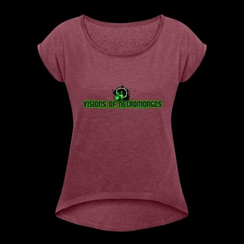 Necromongo Logo ONE - Frauen T-Shirt mit gerollten Ärmeln