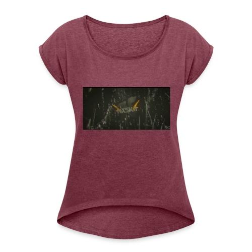 NxSkA - Frauen T-Shirt mit gerollten Ärmeln